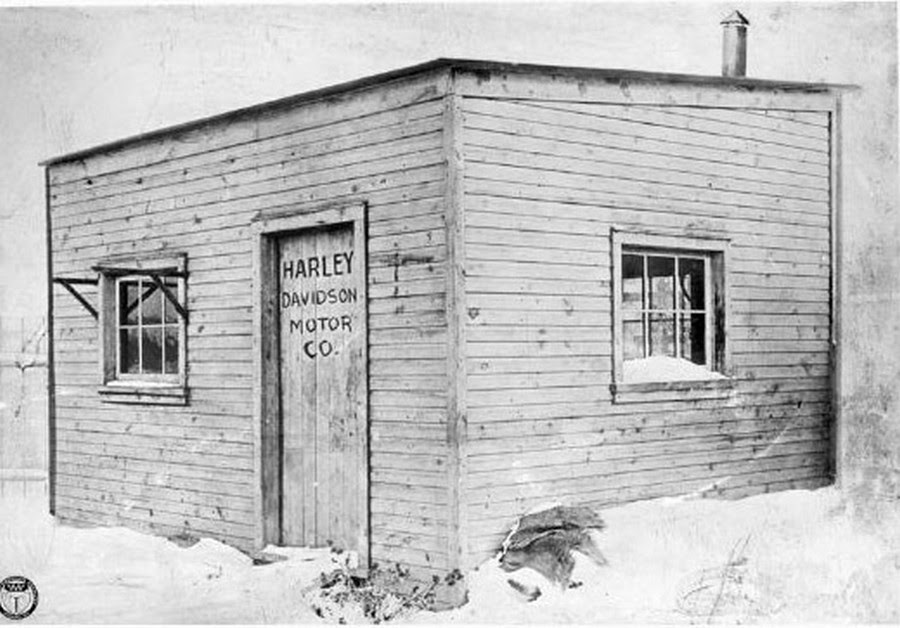 A 10 x 15-foot wooden shed where the 'Harley-Davidson Motor Company' started in 1903