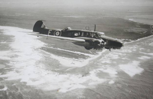 Anson over Cape Recife in 1942