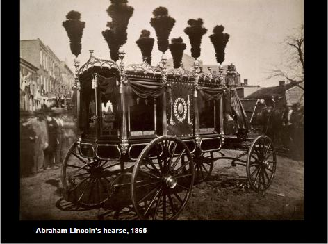 Abraham Lincoln's hearse in 1865