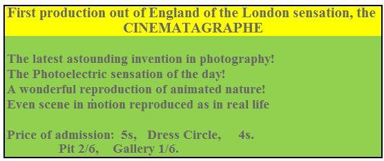 Advert for Cinematographe