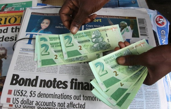 Bond Notes in Zimbabwe