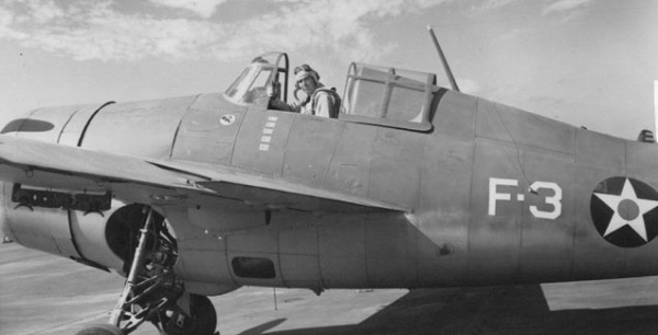 Butch O'Hare in his Wildcat