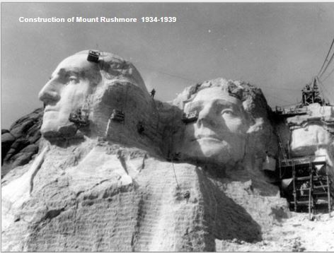 Construction of Mount Rushmore