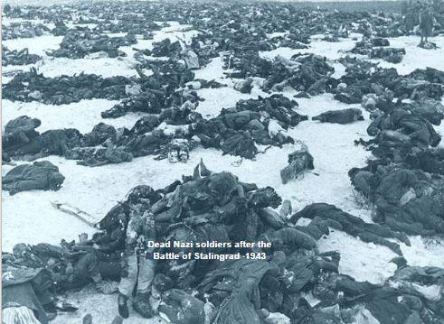 Dead German soldiers at Stalingrad
