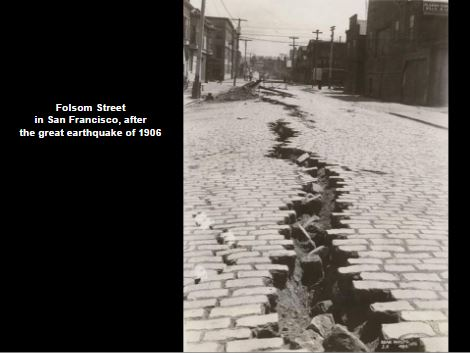 Earth quake in San Francisco in 1906