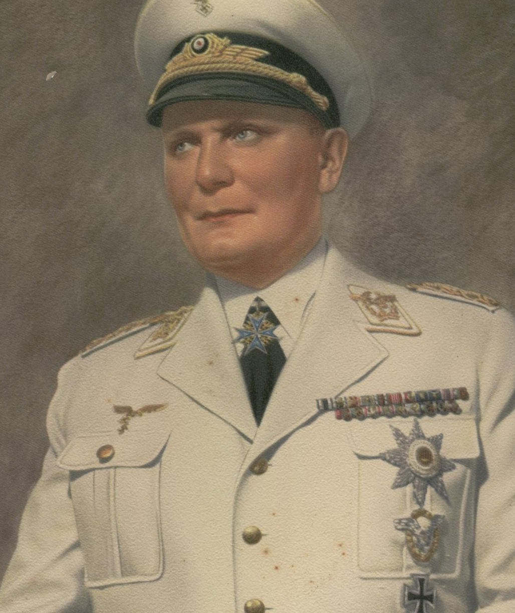 Hermann Goering with his self-awarded medals