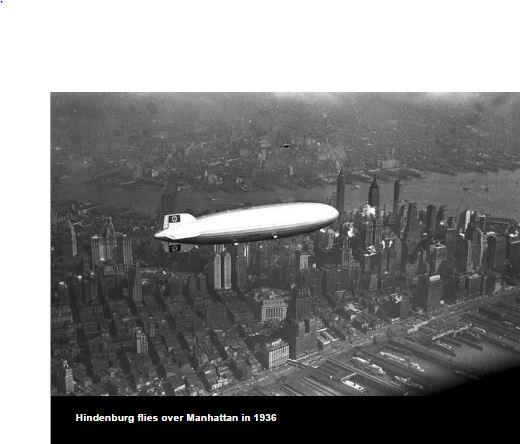 Hindenburg flying over Manhattan in 1936