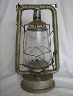 The trusty hurricane lamp for braais or night time visits to the long drop