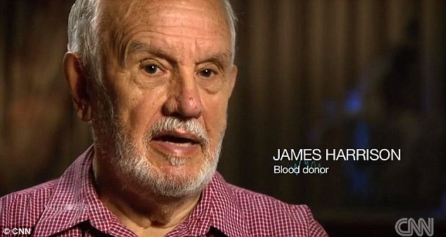 James Harrison, 78, has been donating his rare type of blood for 60 years