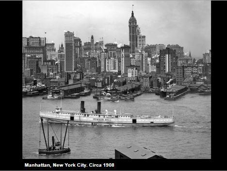Manhattan in 1908