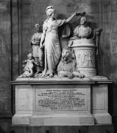 Monument in St. Paul's cathedral to Major General Dundas
