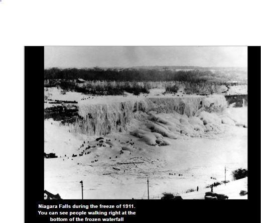 Niagra Falls frozen over