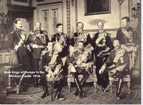 Nine Kings of Europe in Windsor Castle in 1910