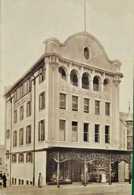 One of the very earliest photos of the newly opened Fischer & Co building in Main Street circa 1914