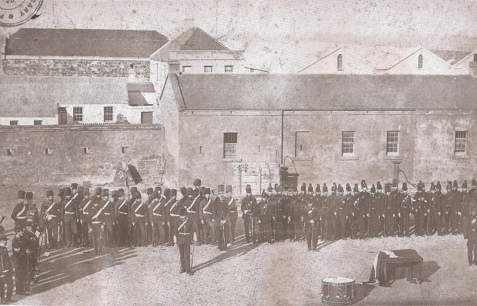 Troops in the Commissariat Buildings