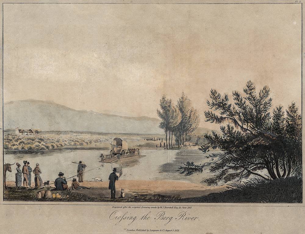 Painting by William Burchell of the Crossing of the Berg River