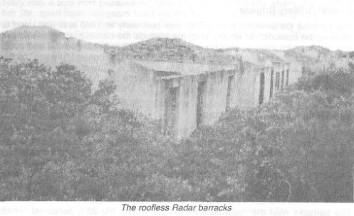 Roofless radar barracks at Seahill, Cape Recife
