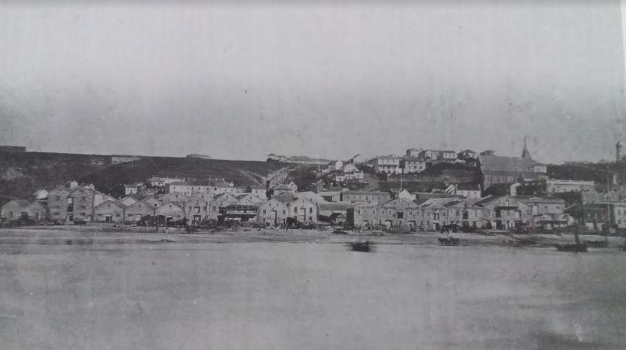 The landing beach circa 1867