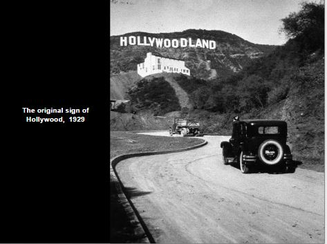 The original Hollywood sign