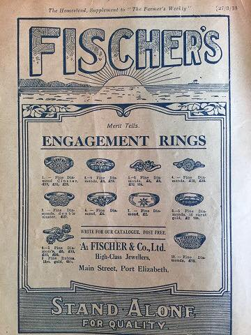 Fischer's Jewellery dates its history back to the year 1862 when the parent establishment was founded in Port Elizabeth