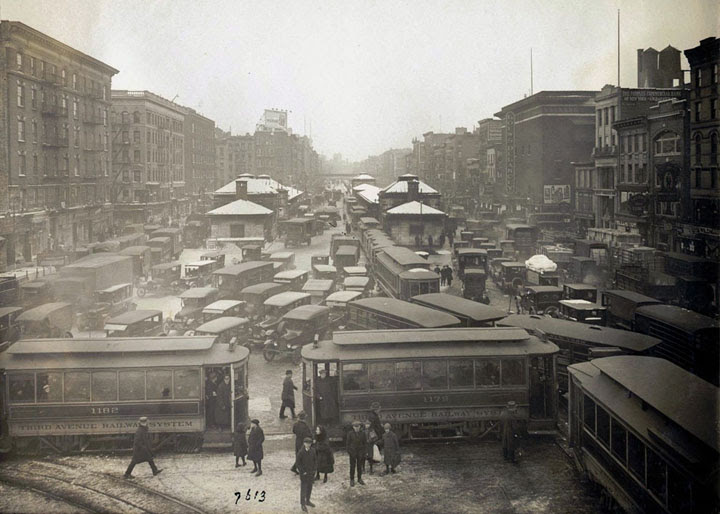 Traffic jam in New York, 1923