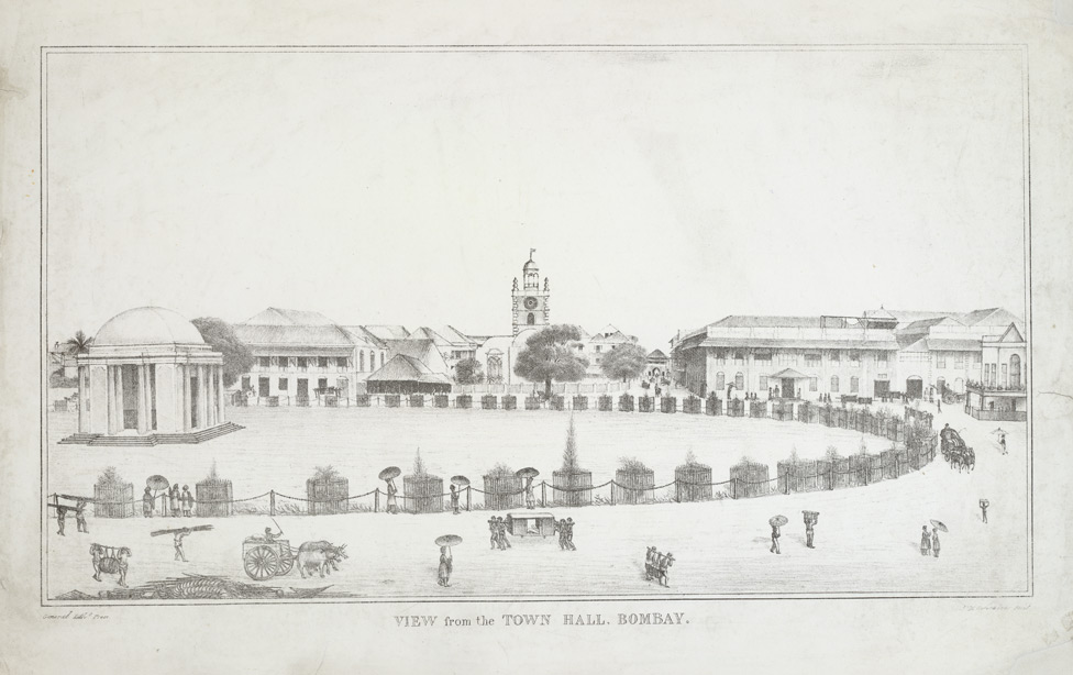 View of Bombay Green from the Town Hall, 1833