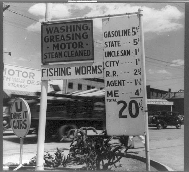 When I first started driving, who would have thought petrol would someday cost 20 cents a litre.