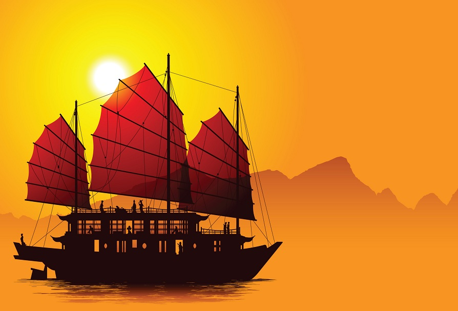 Ancient Chinese Ships called Junks