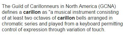 Definition of carillon