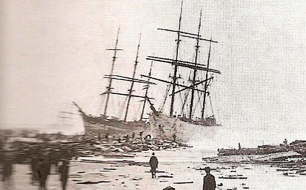 H Wagenaar and Coriolanus Wrecked in Algoa Bay 11 September 1874 Port Elizabeth
