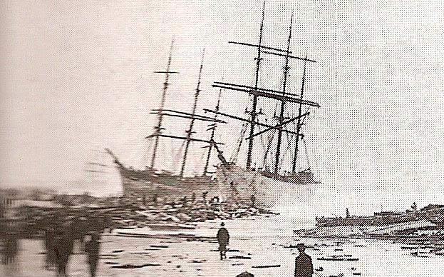H Wagenaar and Coriolanus wrecked in Algoa Bay 11 September 1874