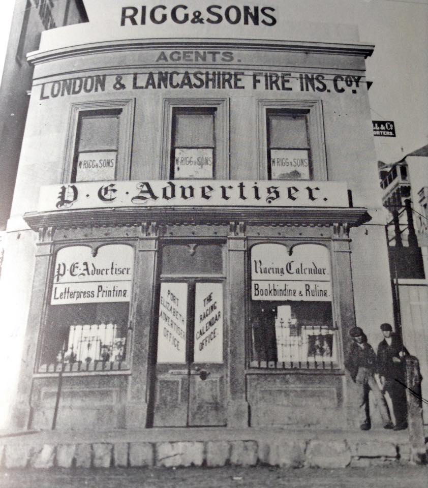Later offices of the PE Advertiser in Main Street & corner of Donkin