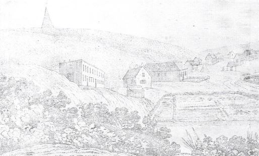 Markham House on the left in Baakens Valley
