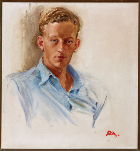 Oil painting of Herbert Hastings McWilliams by Dorothy Kay, 1944