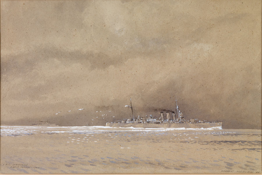 Painted while McWilliams was serving as an Ordinary Seaman (OD) prior to officer training at HMS King Alfred