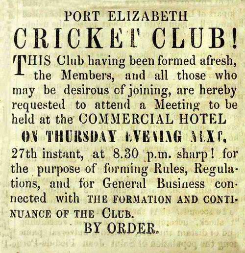 Port Elizabeth Cricket Club at St George's Park