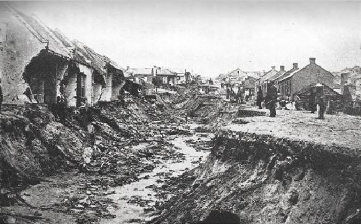 Rudolph Street South End after the storm of 20 & 21 November 1867