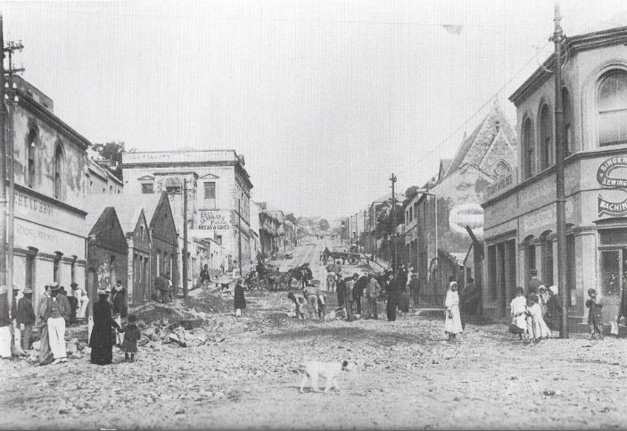 Russell Road after the flood in 1897