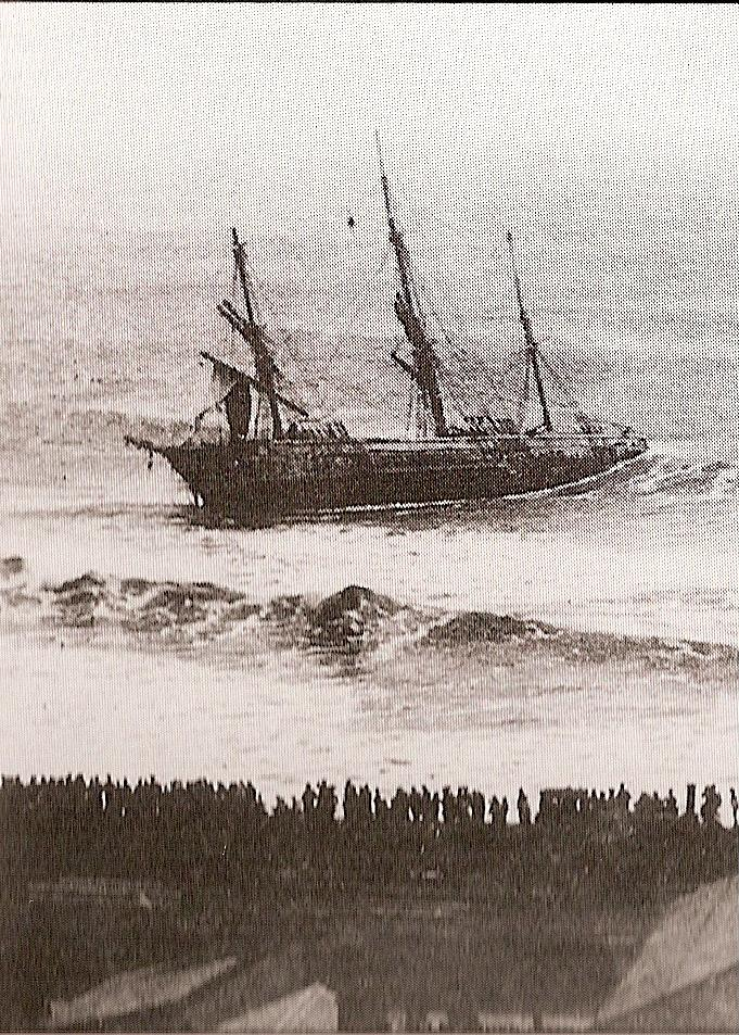 South East Gale 1888 Wrecks the Boschetto in Algoa Bay