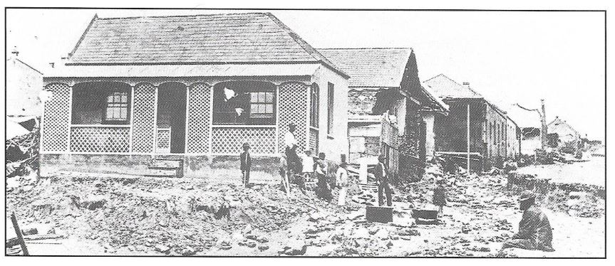 South End: View of Rudolph Street after the flood in November 1867