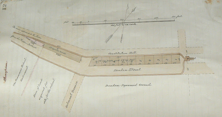 Survey drawing of Donkin Street