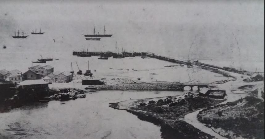 The road across the Baakens in 1866 before the flood