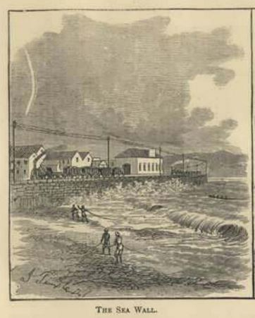 The sea wall in 1878
