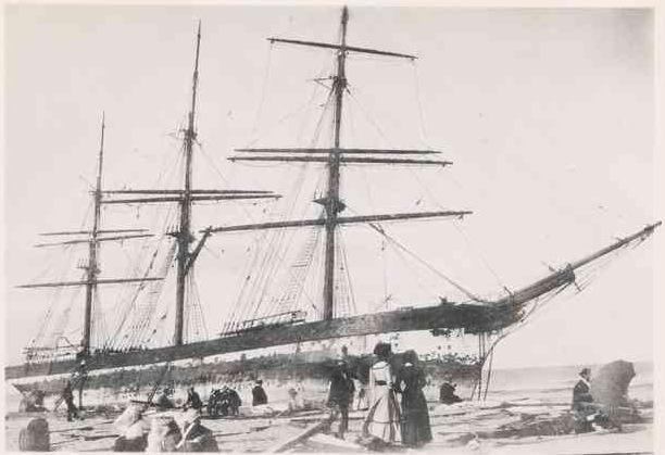 The shipwreck Oakworth at PE 1890