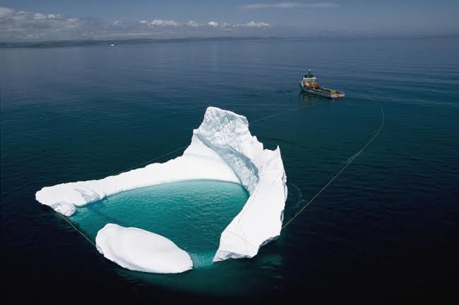 Towing an iceberg