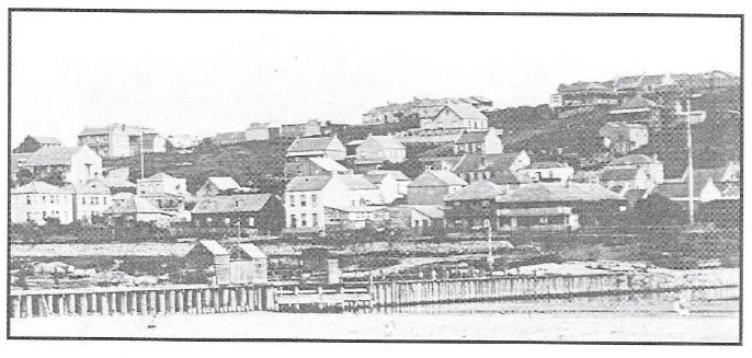 View of South End circa 1869 from the breakwater