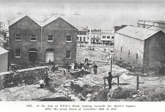 White's Road in 1867 after the flood on 20 & 21 November