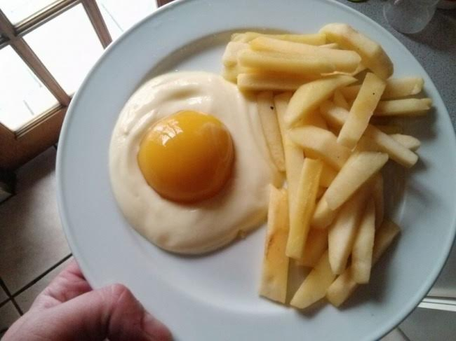 Wholesome breakfast - Yogurt, peach and apple