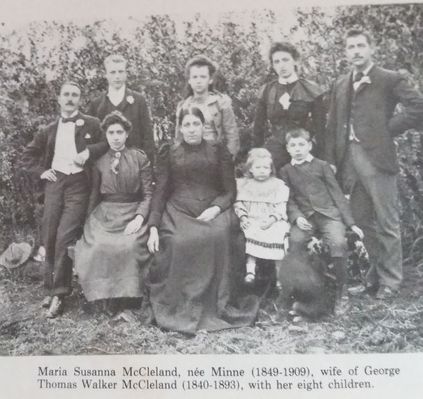 Wife and children of George McCleland