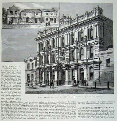 Port Elizabeth from The Illustrated London News dated 1881. The drawings in this article epitomise the change in the architecture from phase 1 to phase 2